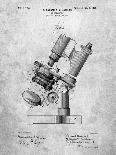 Bausch and Lomb Microscope Patent-Cole Borders-Art Print