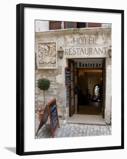 Bautezar Hotel and Restaurant, Les Baux de Provence, France-Lisa S. Engelbrecht-Framed Photographic Print