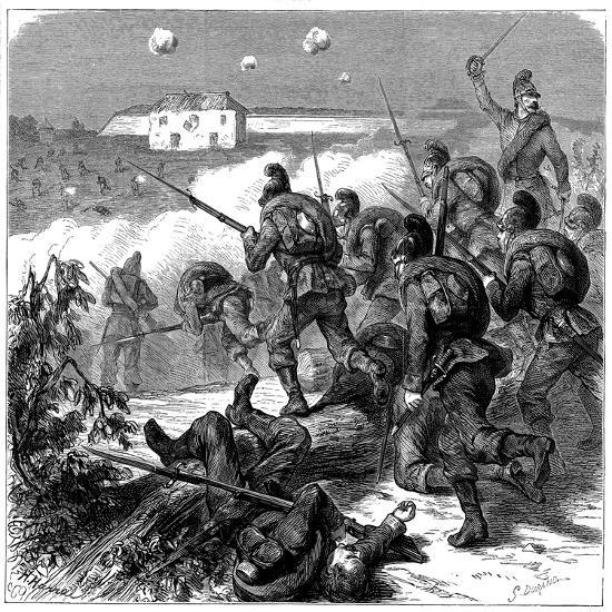 Bavarian Troops of the Prussian Army Storming Bicetre, Franco-Prussian War 1870--Giclee Print