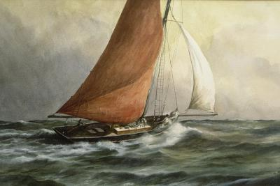 Bawley in the Estuary-Vic Trevett-Giclee Print