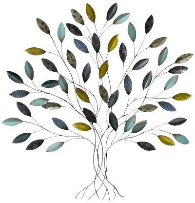 Baxley Blue Gold Metallic Tree--Home Accessories