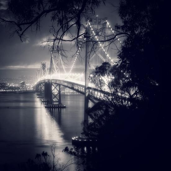 Bay Bridge, All Dressed Up, San Francisco-Vincent James-Photographic Print