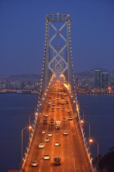 Bay Bridge at Dawn, San Francisco, Usa-Christian Heeb-Photographic Print