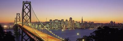 Bay Bridge at Night, San Francisco, California, USA--Photographic Print