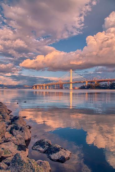 Bay Bridge Cloudscape, Oakland, California--Photographic Print