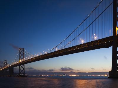 Bay Bridge, Embarcadero, San Francisco, California, Usa-Walter Bibikow-Photographic Print