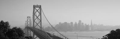 Bay Bridge, Skyline, City, San Francisco, California, USA--Photographic Print