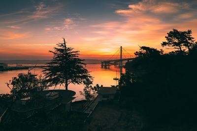 Bay Bridge Sunrise from Treasure Island, San Francisco, California-Vincent James-Photographic Print