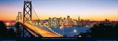 Bay Bridge with Skyline, San Francisco, CA-Karalee Griffin-Art Print