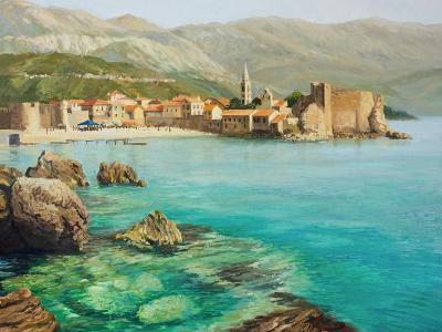 Bay Near Old Budva-kirilstanchev-Art Print