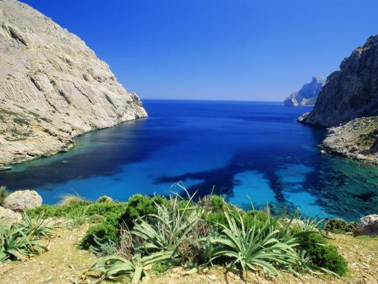 Bay Near Puerto Pollensa, Mallorca (Majorca), Balearic Islands, Spain, Europe-John Miller-Photographic Print