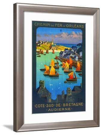 Bay Of Audierne-Charles-Jean Hallo-Framed Art Print