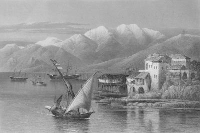 Bay of Beirut, Engraved by C. Cousen-John Douglas Woodward-Giclee Print