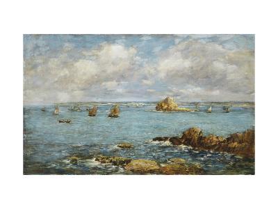 Bay of Douarnenez-Eug?ne Boudin-Giclee Print