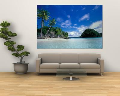 Bay of Honeymoon Island, World Heritage Site, Rock Islands, Palau-Stuart Westmoreland-Giant Art Print