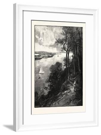 Bay of Quinte, from Above Stone Mills, Canada, Nineteenth Century--Framed Giclee Print