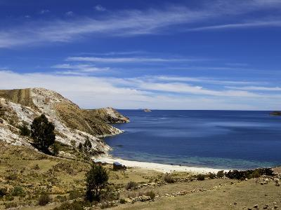Bay on Isla del Sol, Lake Titicaca, Bolivia, South America-Simon Montgomery-Photographic Print