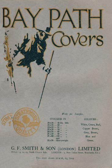 'Bay Path Covers - G.F. Smith & Son (London) Limited advert', 1919-Unknown-Giclee Print