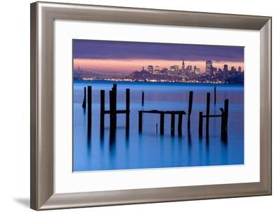 Bay Pilings – Sausalito-Jeffrey Murray-Framed Photographic Print