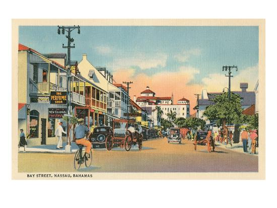 Bay Street, Nassau, Bahamas--Art Print