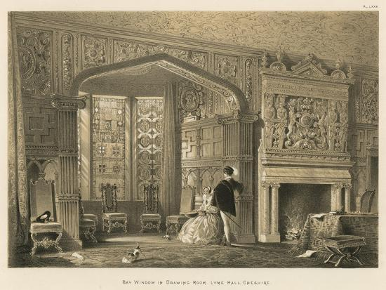 Bay Window in Drawing Room, Lyme Hall, Cheshire-Joseph Nash-Giclee Print