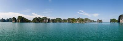 Bay with Cliffs in the Background, Halong Bay, Vietnam--Photographic Print