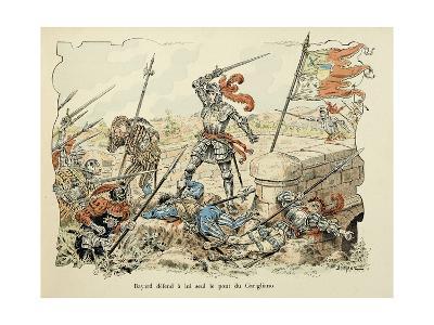 Bayard Defends Alone the Garigliano Bridge-Paul de Semant-Giclee Print