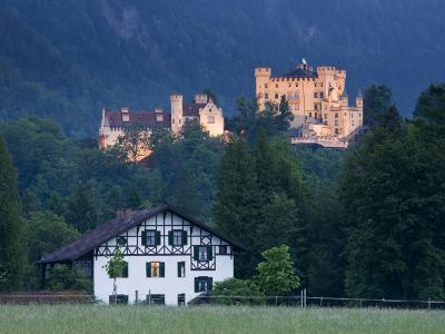 Bayern/Bavaria, Deutsche Alpenstrasse, Schwangau, Schloss Hohenschwangau, Germany-Walter Bibikow-Photographic Print