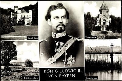 Bayern, K?nig Ludwig II, Schlo? Burg, Votivkapelle--Giclee Print
