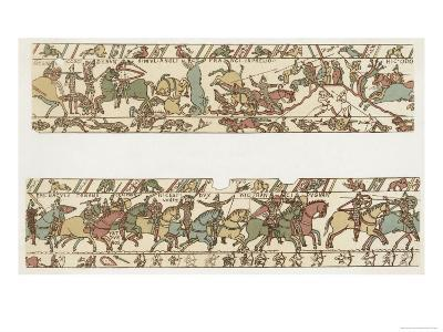 Bayeux Tapestry: Battle of Hastings Battle Rages--Giclee Print