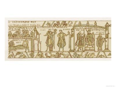 Bayeux Tapestry: Harold is Crowned King--Giclee Print