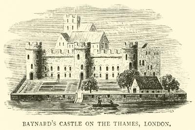 Baynard's Castle on the Thames, London--Giclee Print