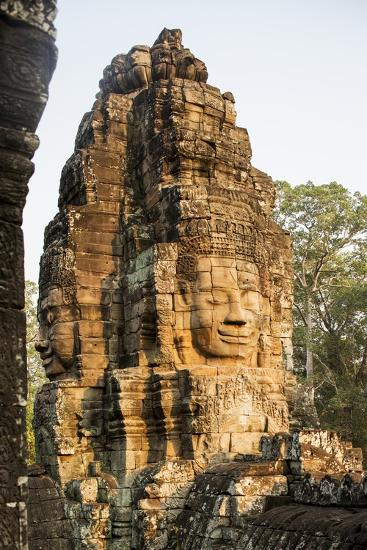 Bayon Temple, Angkor Wat, Siem Reap, Cambodia-Paul Souders-Photographic Print
