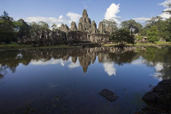 Bayon, the Premier Temple Within Angkor Thom-Scott S^ Warren-Photographic Print