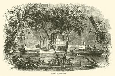 Bayou Navigation, March 1863--Giclee Print