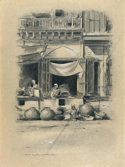 'Bazaar at Delhi', 1903-Mortimer L Menpes-Giclee Print