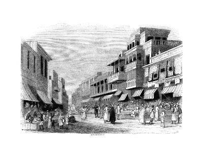Bazaar in Bombay, India, 1847- Kirchner-Giclee Print