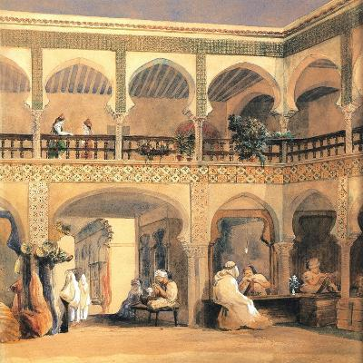 Bazaar in Orleans, 1840S-Th?odore Chass?riau-Giclee Print