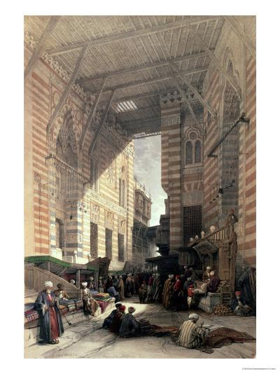 "Bazaar of the Silk Merchants, Cairo, from ""Egypt and Nubia,"" Vol.3-David Roberts-Giclee Print"