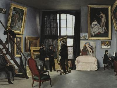 Bazille's Studio, c.1870-Frederic Bazille-Giclee Print