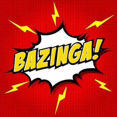 Bazinga! Comic Speech Bubble, Cartoon-jirawatp-Art Print