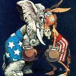 """Democrats vs. Republicans,"" July/Aug 1980-BB Sams-Giclee Print"