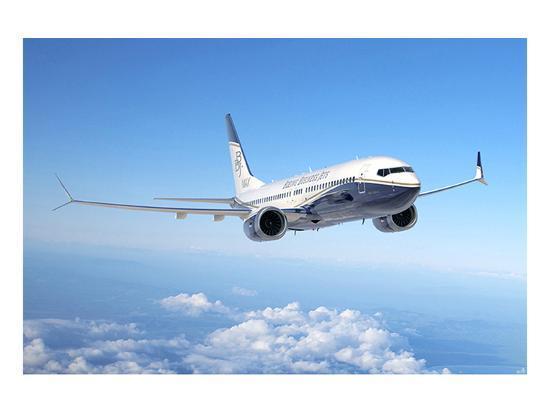 BBJ MAX 8 based on the 737 MAX 8--Art Print