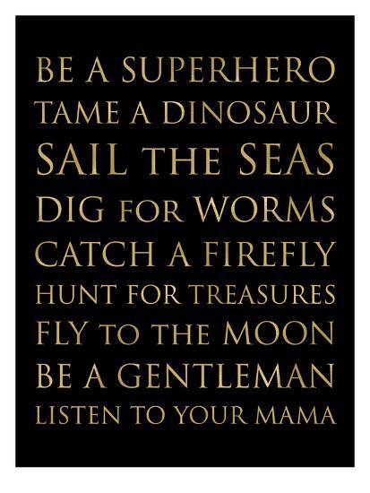 Be A Superhero Golden Black-Amy Brinkman-Art Print
