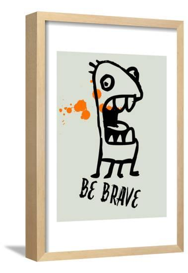 Be Brave 1-Lina Lu-Framed Poster