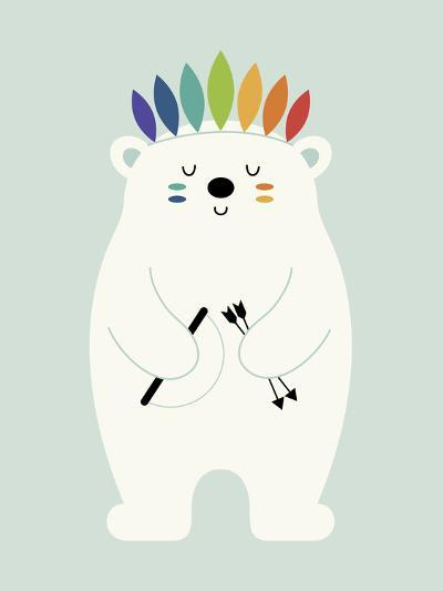 Be Brave Polar-Andy Westface-Giclee Print