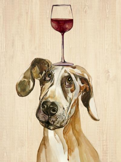 Be Careful Of The Glass of Wine-Jin Jing-Art Print