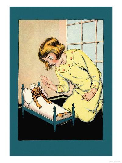Be Good, Hungry Tiger-John R^ Neill-Art Print