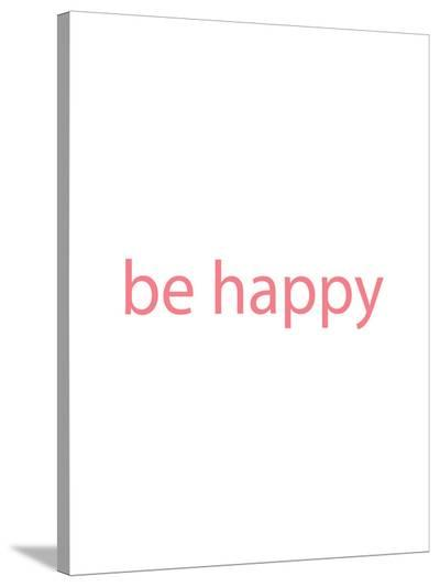 Be Happy-Jetty Printables-Stretched Canvas Print
