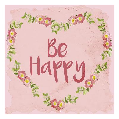 Be Happy-Kimberly Allen-Art Print